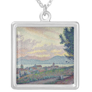 St. Tropez, Pinewood, 1896 Silver Plated Necklace