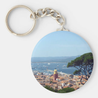 st tropez view basic round button key ring
