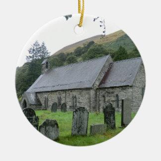 St Tydecho Llanmawddwy Church, Wales Round Ceramic Decoration