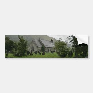 St Tydecho's Church in Llanmawddwy, Gwynedd Bumper Sticker