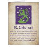 St. Urho 3:16 - Card