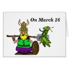 St. Urho Displaced Grasshoppers Greeting Card