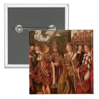 St. Ursula and Prince Etherius 15 Cm Square Badge