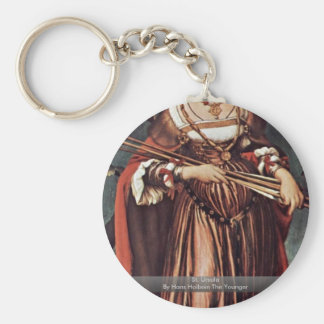 St. Ursula By Hans Holbein The Younger Basic Round Button Key Ring