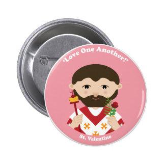 St. Valentine 6 Cm Round Badge