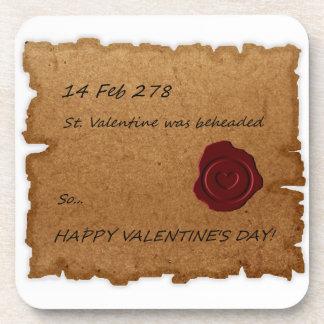 St. Valentine Historical Paper Stamped Coaster
