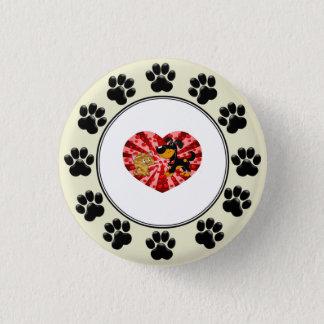 St. Valentine's Day 3 Cm Round Badge