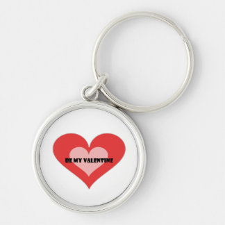 St. Valentine's day Silver-Colored Round Key Ring