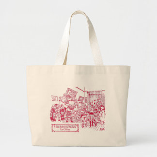 St. Valentine's Day Party for Children 1900 illust Jumbo Tote Bag