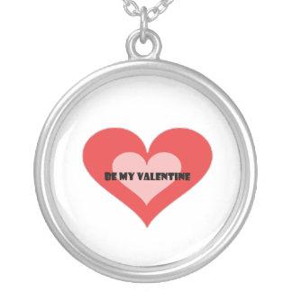 St. Valentine's day Round Pendant Necklace