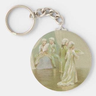 St. Valentine's Greetings Basic Round Button Key Ring