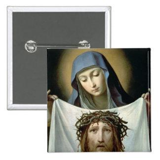 St. Veronica 15 Cm Square Badge