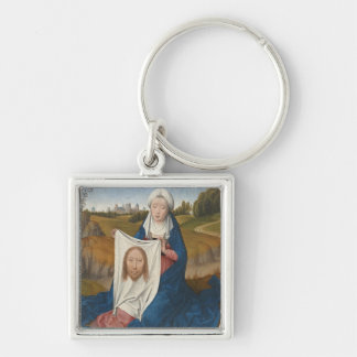 St. Veronica, c.1470-1475 (oil on panel) Silver-Colored Square Key Ring