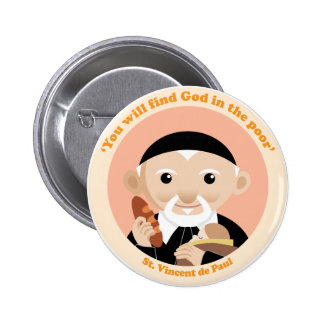 St. Vincent de Paul 6 Cm Round Badge