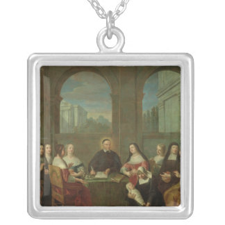 St. Vincent de Paul and the Sisters of Charity Silver Plated Necklace