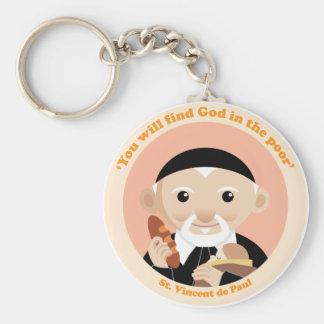 St. Vincent de Paul Basic Round Button Key Ring