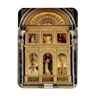 St Vincent Ferrer Altarpiece c 1465 polyptych Rectangle Magnet