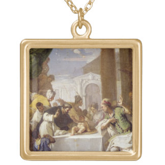 St. Vincent Ferrer performing a miracle Gold Plated Necklace