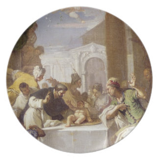 St. Vincent Ferrer performing a miracle Plate