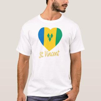 St Vincent / Grenadines Flag Heart T-Shirt