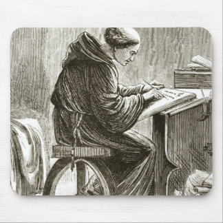 St. Vincent writing in his cell at Ferins, from 'T Mouse Mat