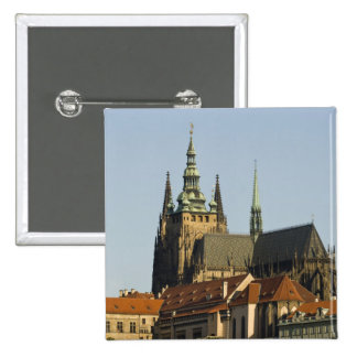 St. Vitus Cathedral and Prague Castle, one of 15 Cm Square Badge
