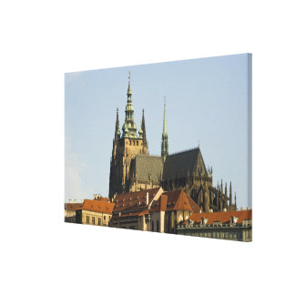 St. Vitus Cathedral and Prague Castle, one of Canvas Print