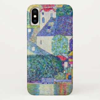 St. Wolfgang Church by Gustav Klimt, Victorian Art iPhone X Case