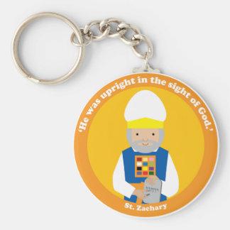 St. Zachary Basic Round Button Key Ring