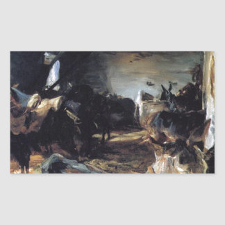 Stable at Cuenca by John Singer Sargent Rectangular Sticker