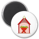 Stable Baby Jesus Crib Refrigerator Magnet