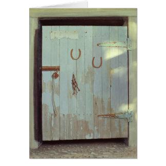 Stable Door 1990 Card
