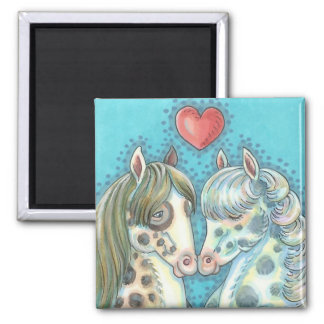 Stablemates Pinto Ponies HORSE MAGNET Square