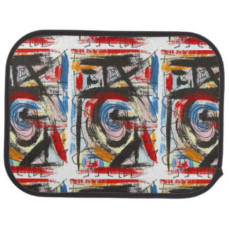 Staccato-Hand Painted Abstract Art Brushstrokes Car Mat