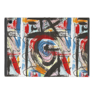 Staccato-Hand Painted Abstract Art Brushstrokes Cases For iPad Mini