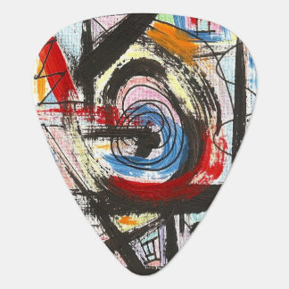 Staccato-Hand Painted Abstract Art Brushstrokes Plectrum