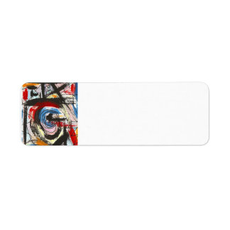 Staccato-Hand Painted Abstract Art Brushstrokes Return Address Label