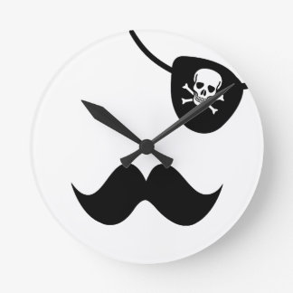 Stache and Patch Round Clock