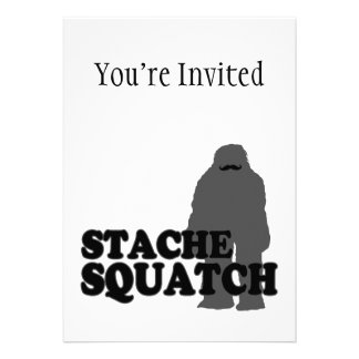 Stache Squatch Personalized Announcements