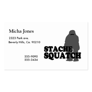 Stache Squatch Pack Of Standard Business Cards
