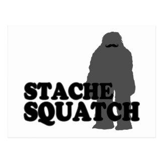 Stache Squatch Postcard