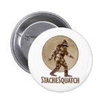 STACHESQUATCH I Moustache if you've Seen My 6 Cm Round Badge