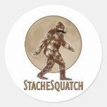 STACHESQUATCH I Moustache if you've Seen My Squatc Round Stickers
