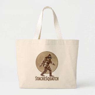 STACHESQUATCH I Mustache if you've Seen My Squatch Tote Bags