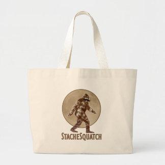 STACHESQUATCH I Mustache if you've Seen My Squatch Jumbo Tote Bag