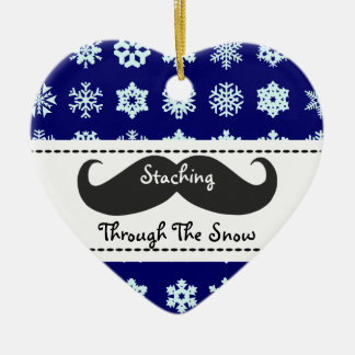 Staching through the snow at Christmas Christmas Ornament