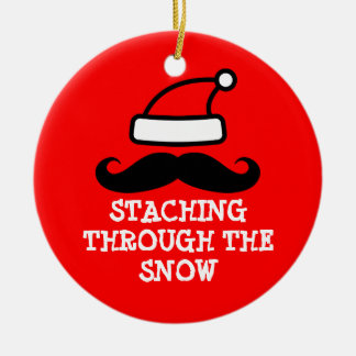 Staching through the snow Christmas ornament