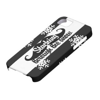 Staching through the snow iPhone 5 cover