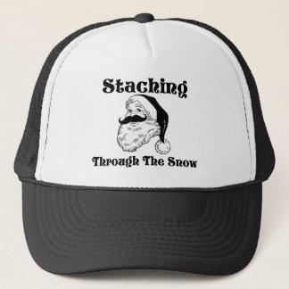 Staching Through The Snow Santa Trucker Hat