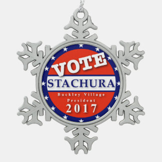 Stachura Ornament! Snowflake Pewter Christmas Ornament